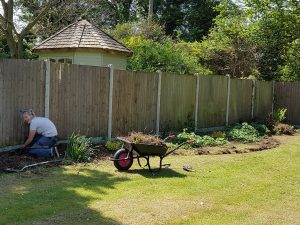 As part of the Garden Design the existing beds were reshaped