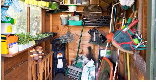 Inside a Garden Shed